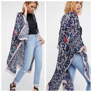 Free People The Magic Dance Border Print Kimono